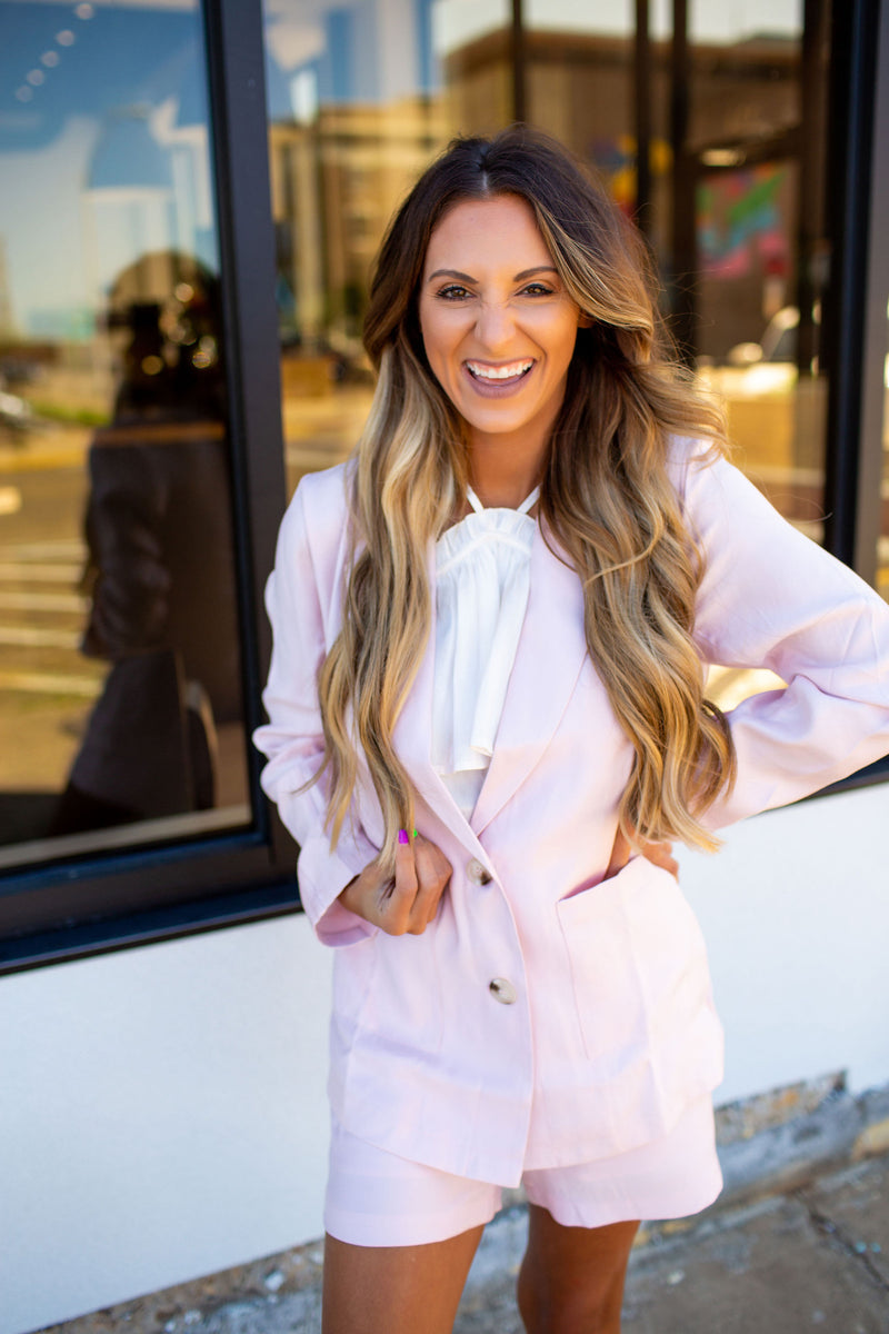 Beautiful In Blush Blazer