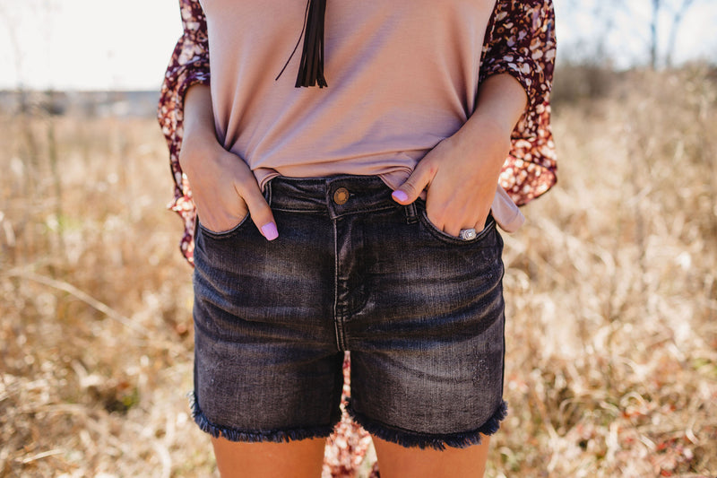 Judy Blue Fray Hem Cut-Off Shorts