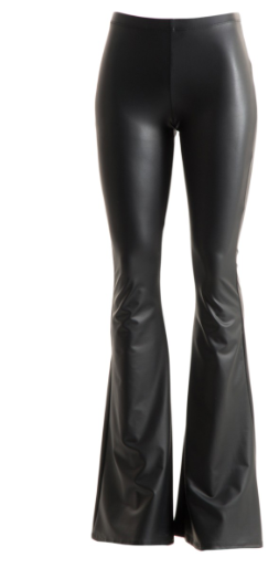 Faux Leather Bell Bottoms - West Avenue
