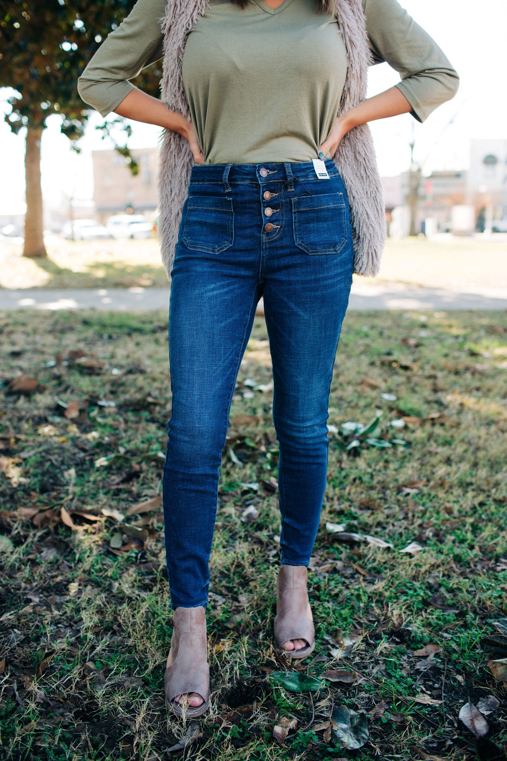 Judy Blue Patch Pocket Skinnies