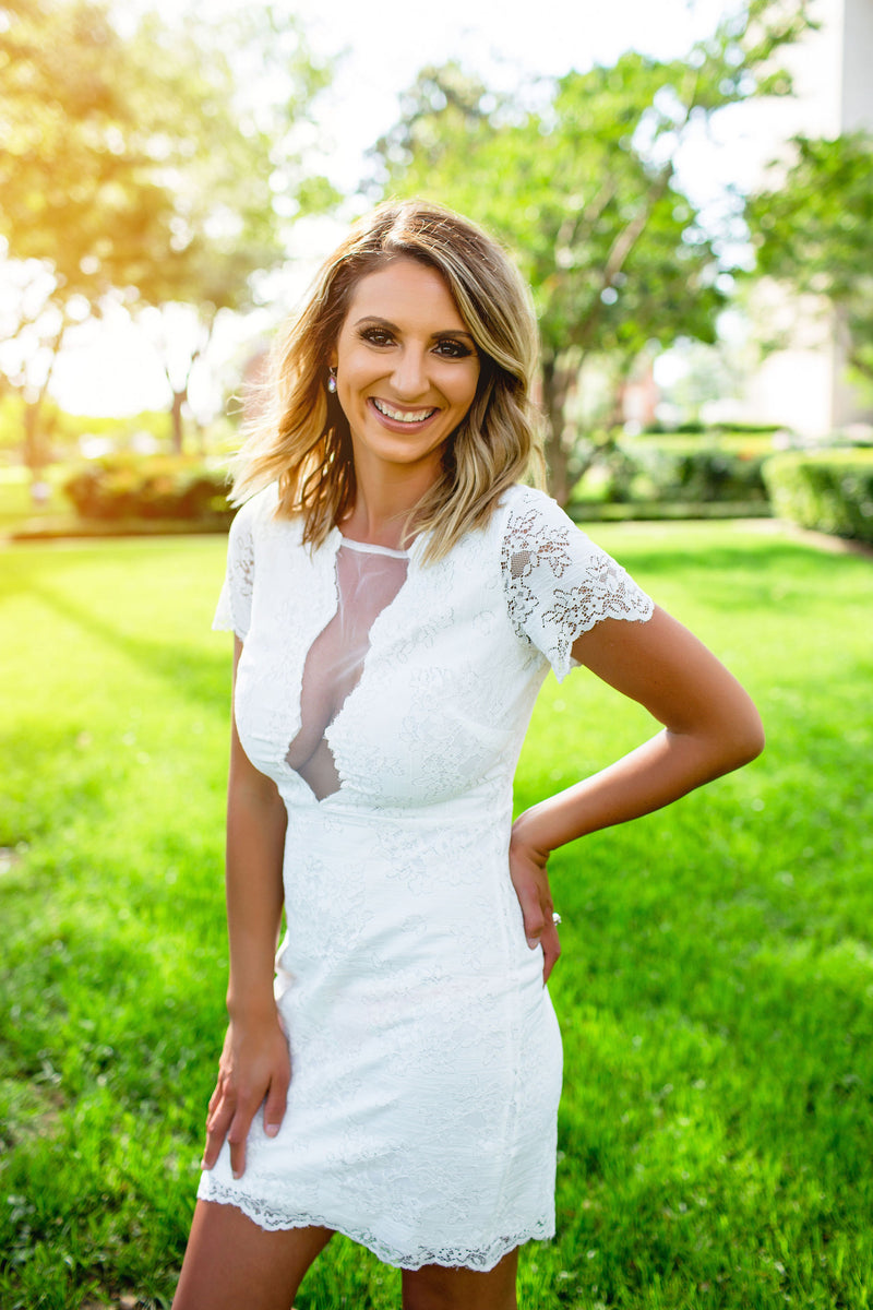 Marry Me White Lace Dress - West Avenue