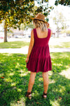 Where I'm Gonna Be Burgundy Dress