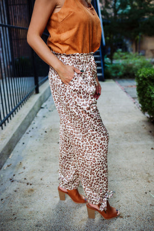 The Vici Leopard Print Trousers