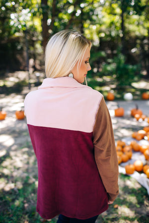 Wherever You Are Color Block Sweater