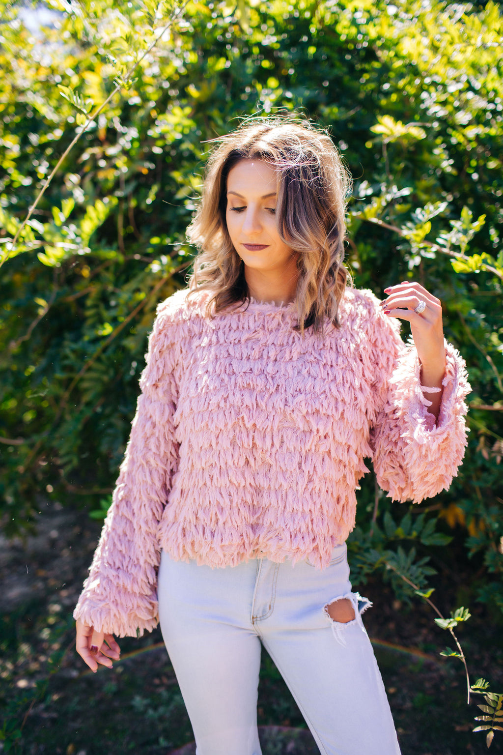 The Way You Look Blush Sweater
