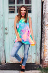 One Thing Right Tie Dye Tank - West Avenue