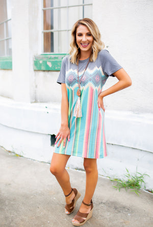 One Of Them Girls T Shirt Dress - West Avenue