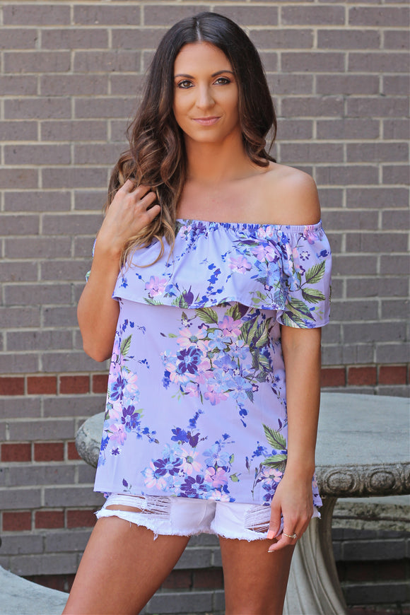 Floral Daze Off Shoulder Top - West Avenue