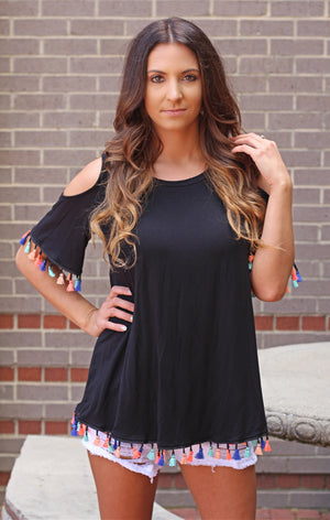 Like A Dream Tassel Top - West Avenue