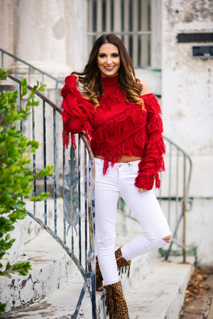 Vegas Nights Sweater - Red - West Avenue