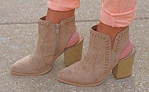 The Ashley Bootie - Taupe - West Avenue