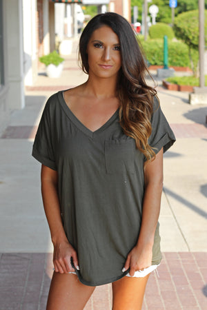 The Everyday Tee - Olive - West Avenue