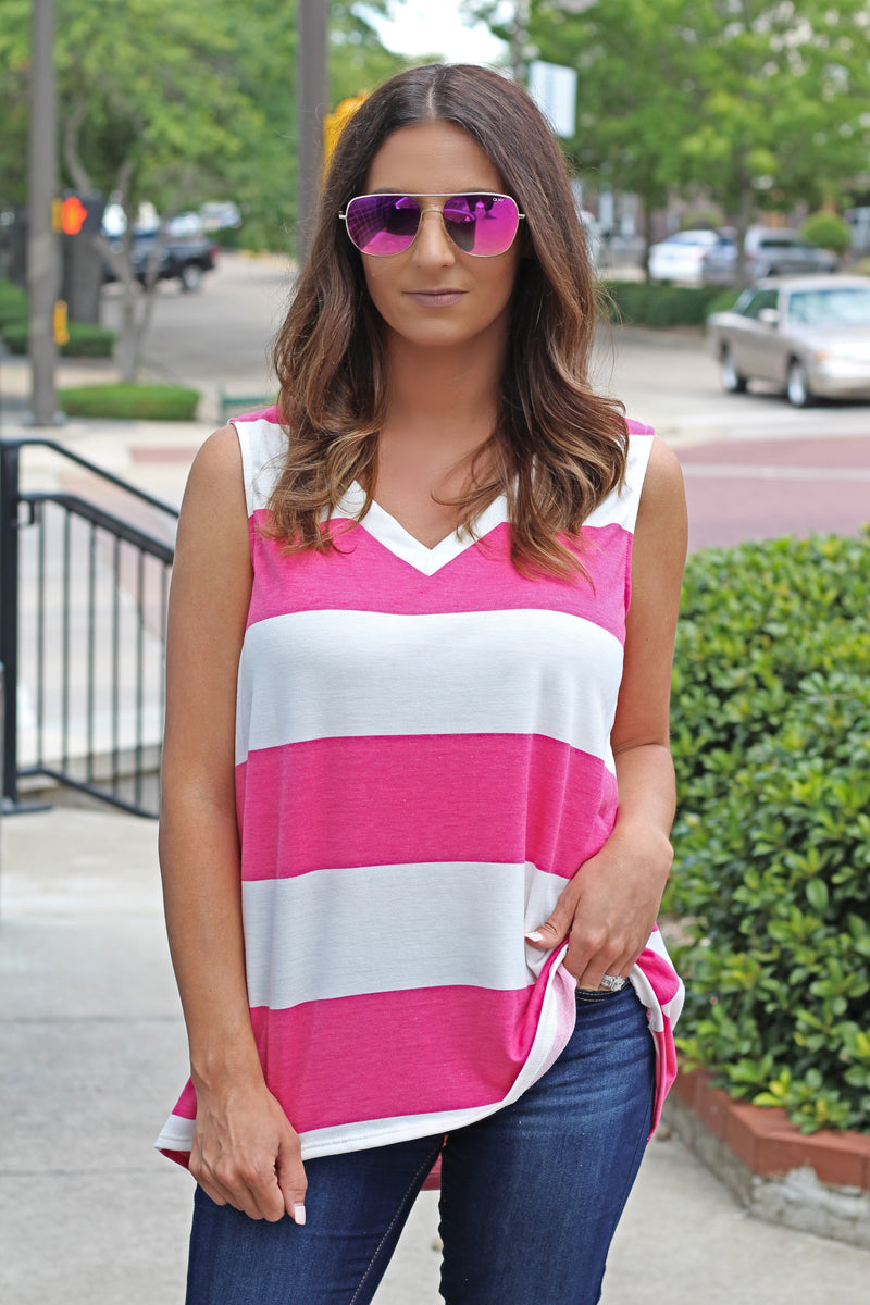 Be Yourself Fuchsia Top - West Avenue