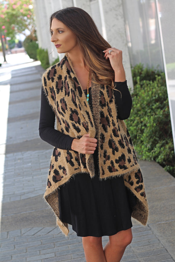 The Laura Leopard Vest - West Avenue