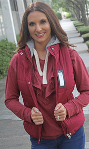 The Campfire Cozy Vest - Burgundy - West Avenue