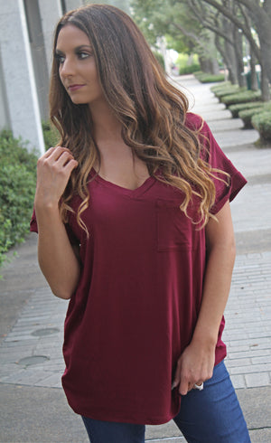 The Everyday Tee - Burgundy - West Avenue