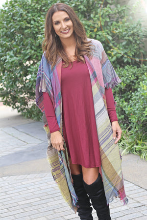 Wrapped Up In You Cardigan - Fuchsia - West Avenue