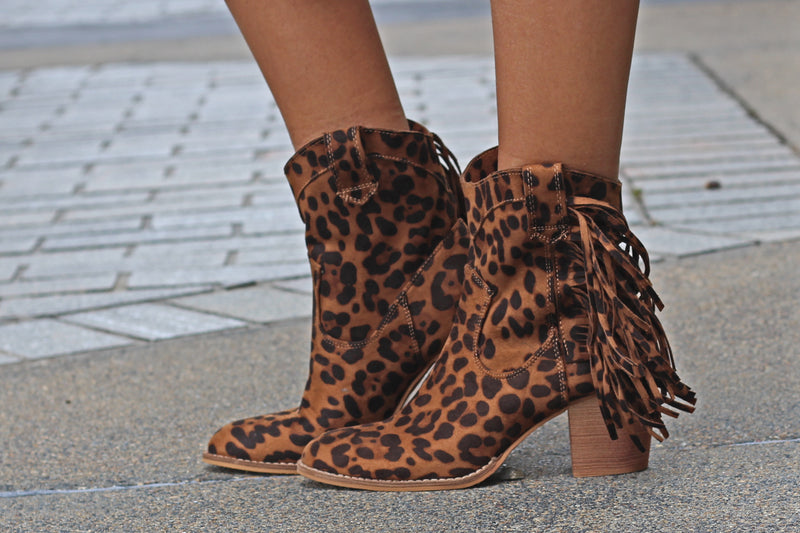 Ivanna Leopard Booties - West Avenue
