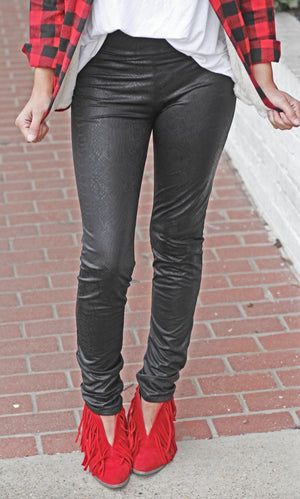 Faux Leather Leggings - West Avenue