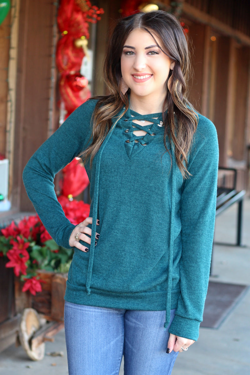 Teal We Meet Again Knit Sweater - West Avenue