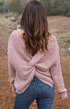Dusty Pink Knot Top - West Avenue