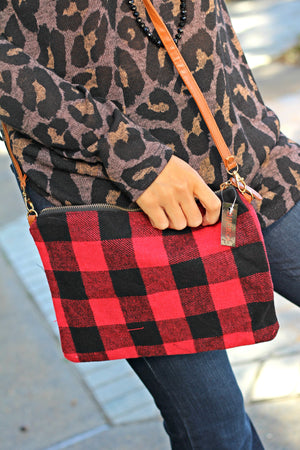 Plaid Crossbody/Clutch - West Avenue