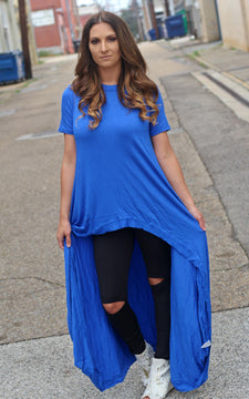 Long Time Gone Maxi Top - Royal Blue