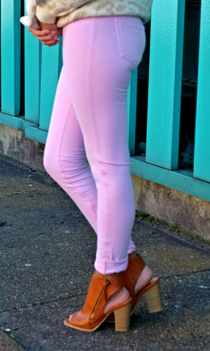 Light Pink Jeggings - West Avenue