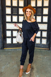Tan & Trendy Black Jumpsuit - West Avenue