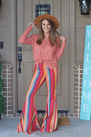 The Gypsy Serape Flare Pants - West Avenue