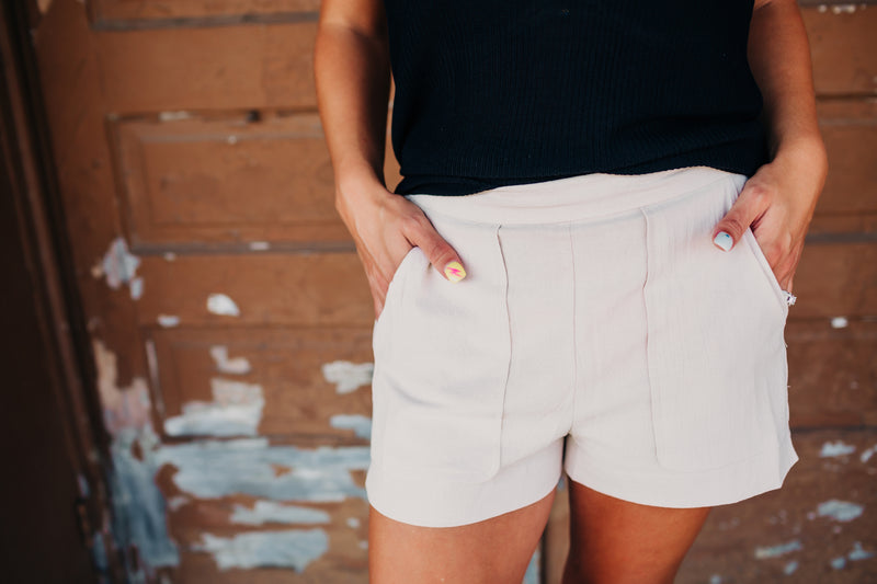 The Flora Khaki Shorts