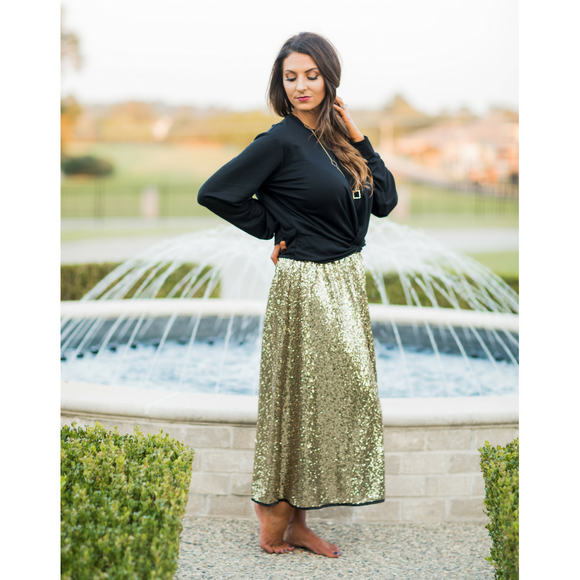 Dream Big Sequin Skirt - West Avenue