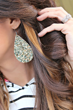 Gold Glitter Earrings - West Avenue