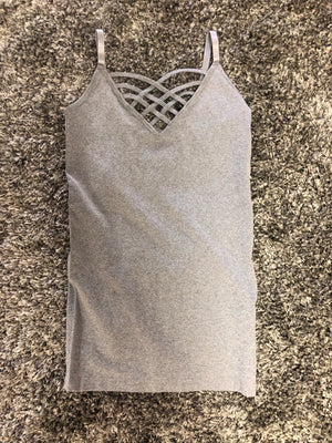 Heather Gray Strap Cami - West Avenue