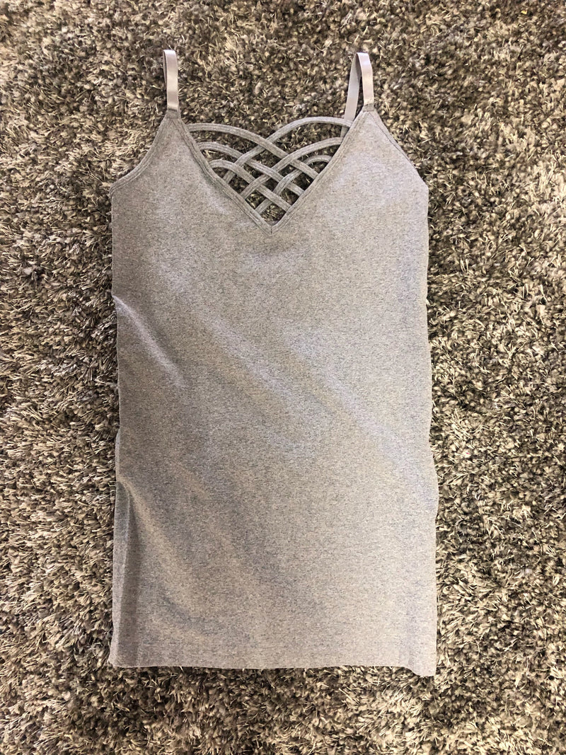 Heather Gray Strap Cami