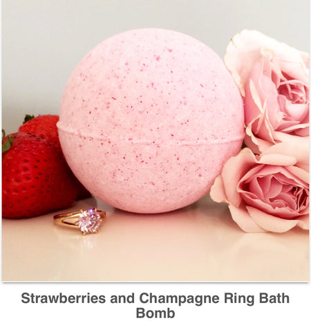 Strawberries & Champagne Ring Bomb