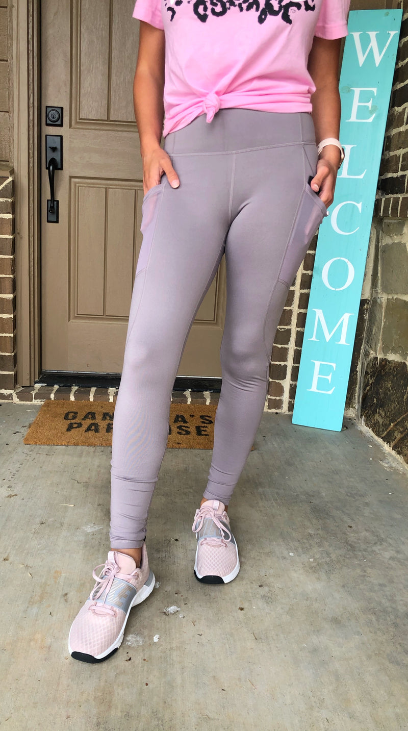 Mono B Mauve Leggings - West Avenue