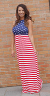 Red White & Beautiful Maxi Dress - West Avenue