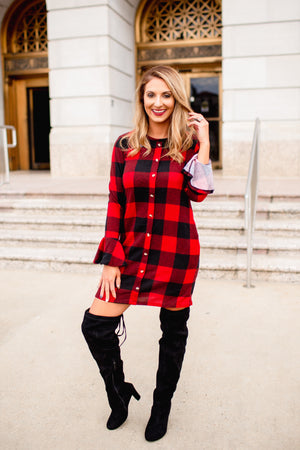 All About That Plaid Dress - West Avenue