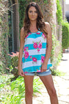 Beautify Crazy Floral Tank - West Avenue