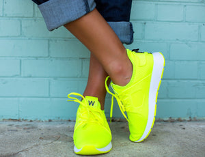The Amanda Neon Sneaker - Green - West Avenue