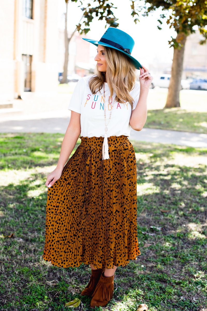 The Leopard Lady Skirt - West Avenue