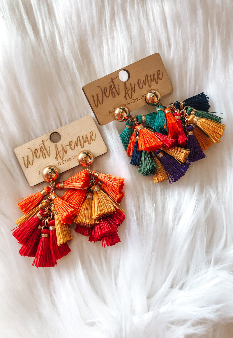 Tassel Earrings { 2 Colors }