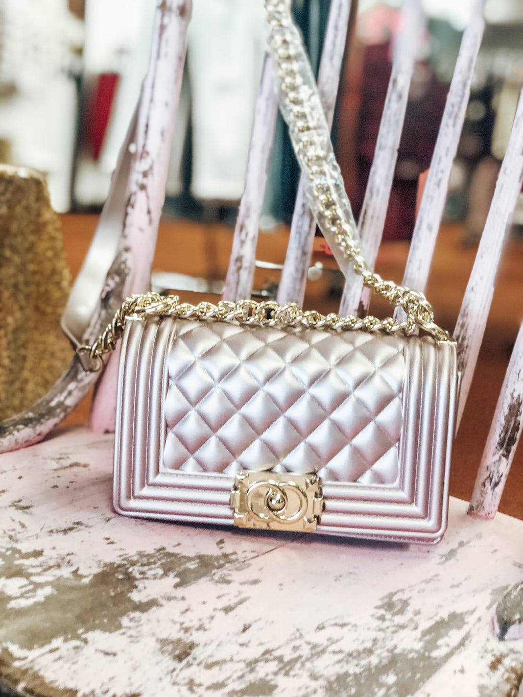 Rose Gold Jelly Purse - West Avenue
