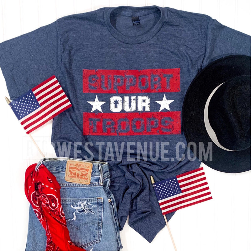 Support Our Troops - Blue - West Avenue
