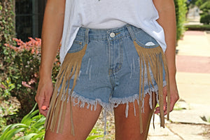 Ali Dee Fringe Shorts - West Avenue