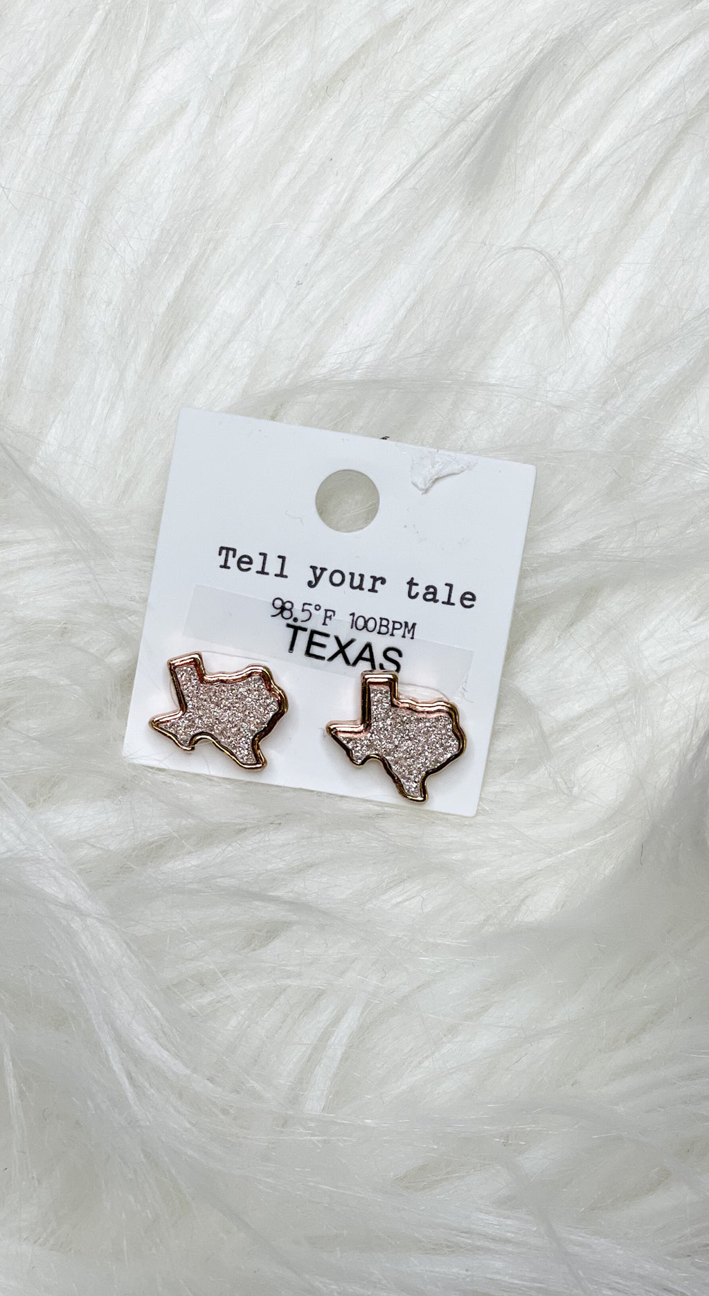 Texas Druzy Stud Earrings