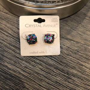 Glitter Studs { 4 colors } - West Avenue