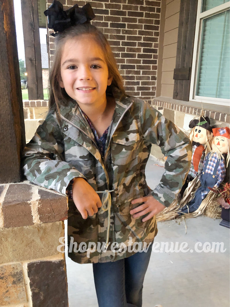 Camo Cargo Jacket - Youth - West Avenue