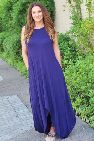 Wherever You Go Navy Maxi - West Avenue
